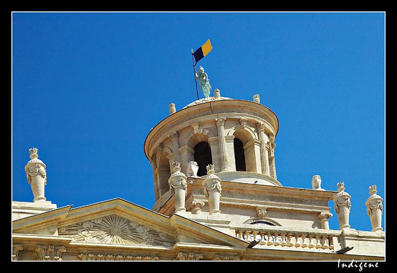 Le toit de la mairie