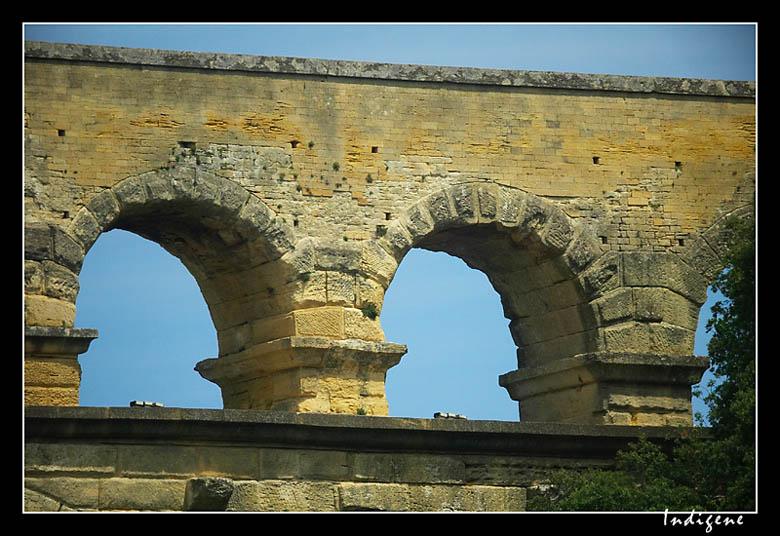 Détail des voutes du Pont Du Gard