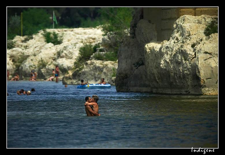 Le baiser du Pont du Gard