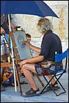photo Le peintre de rue