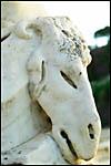 photo Statue de bouc dans les jardins de la fontaine