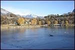 photo Le vélo sur le lac gelé