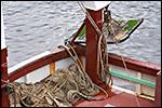photo Les filets dans un bateau de pêche