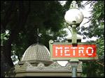 photo Signalisation d'une bouche de métro dans Paris