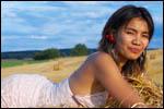 photo Sita sur la paille