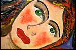 photo Visage de femme aux yeux verts