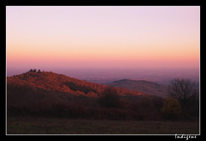 Coucher de soleil sur le Beaujolais