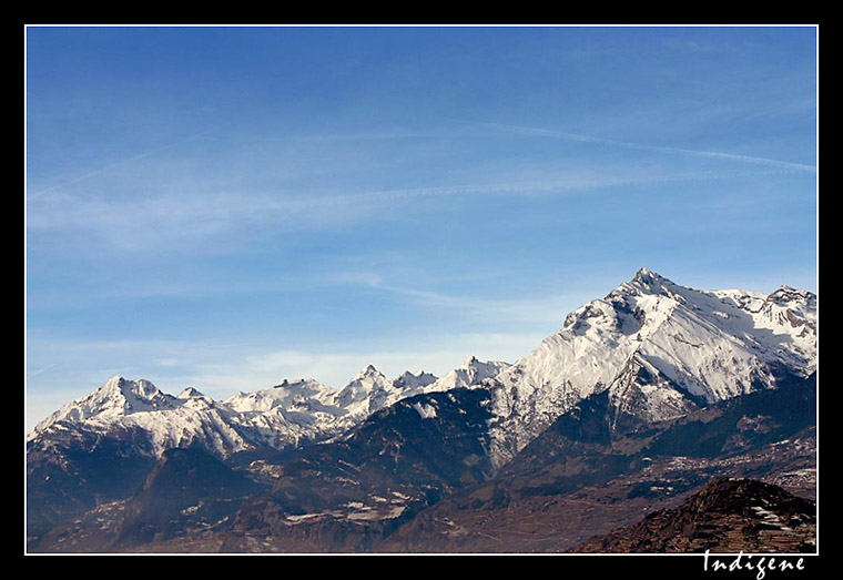 Montagnes Suisses près de Sion