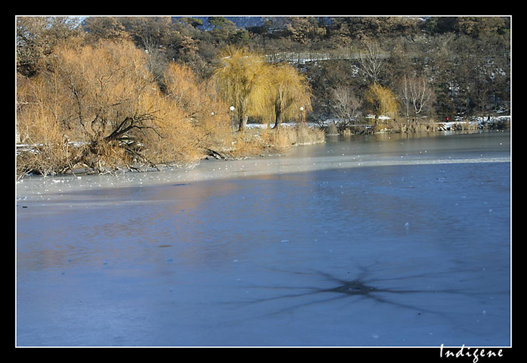 Le lac gelé à Sierre