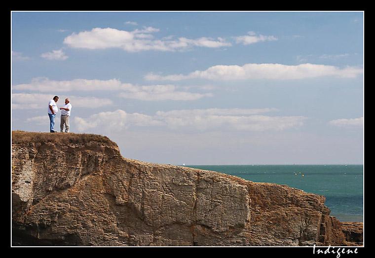 Engueulade sur la falaise