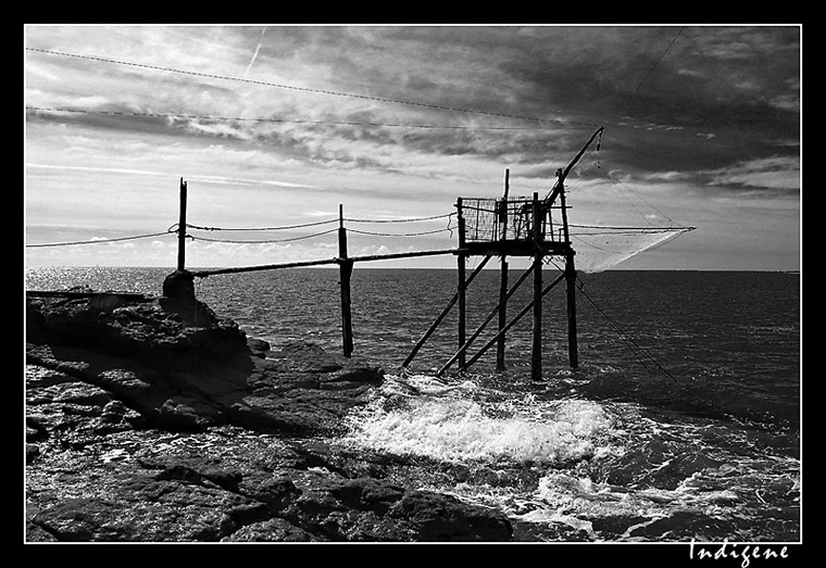 Carrelet sur les côtes de Vendée