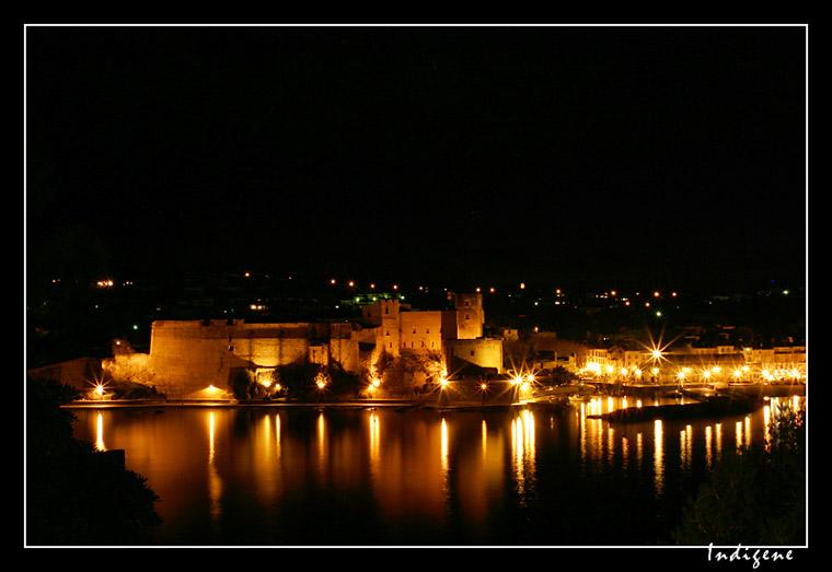 Château de Collioure de nuit