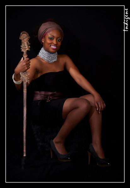 La reine avec son sceptre