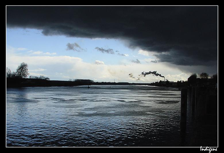 La rivière Saône à Mâcon