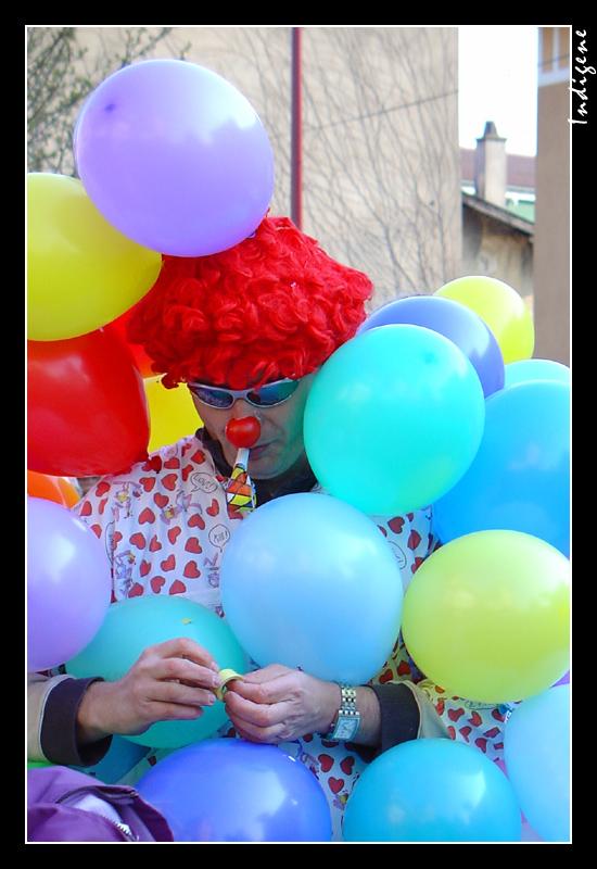 Le clown et les ballons