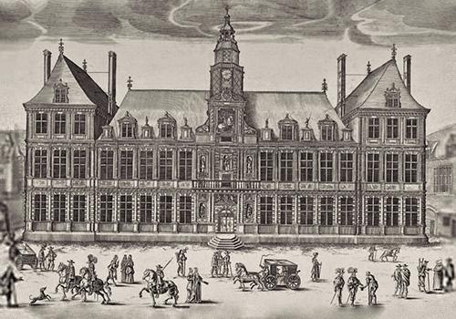 Gravure hôtel de ville de Reims
