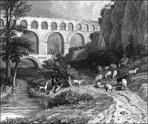 Gravure du Pont du Gard