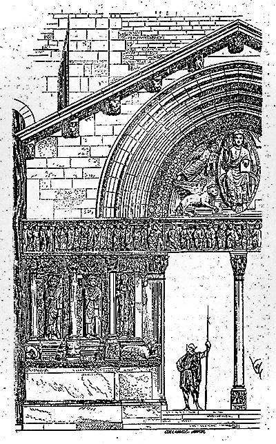 Gravure église Saint-Trophime