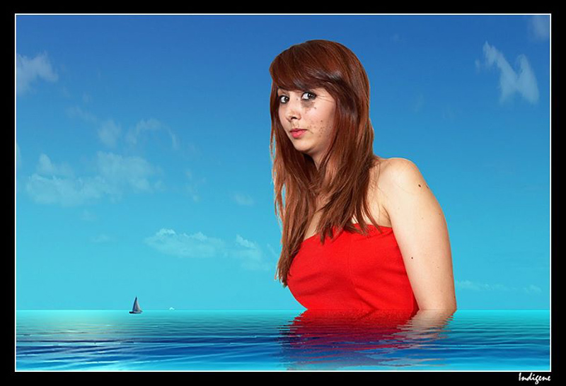 Lilou à la mer