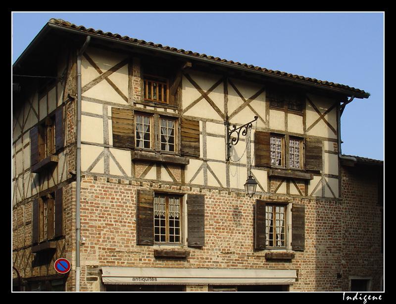 Maison à colombages à Châtillon sur Chalaronne