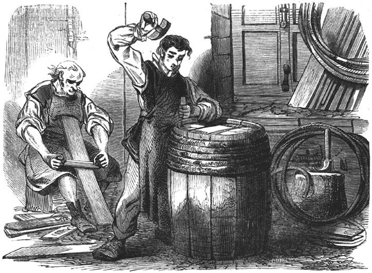 Ouvriers tonneliers à Mâcon