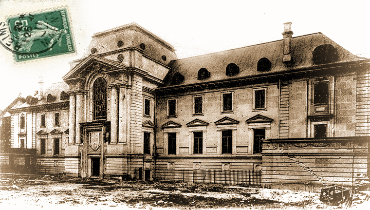 Palais de Justice de Reims bombardé en 14-18