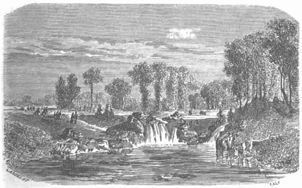 Le Rond des Cascades dans le Bois de Boulogne