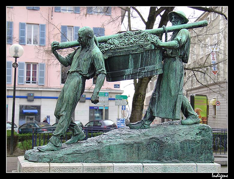 La statue des vendangeurs