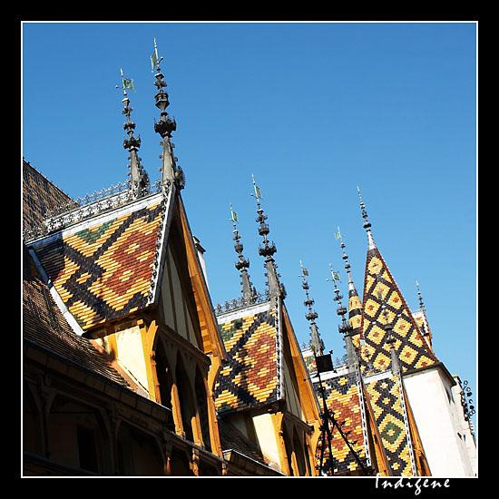 Les toits de couleur bourguignons